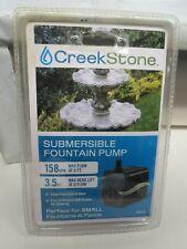 Creek Stone SUBMERSIBLE ADJUSTABLE WATER GARDEN FOUNTAIN POND PUMP 158 GPH