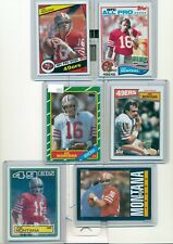 6 card Joe Montana Lot Topps 1982 83 84 85 86 87