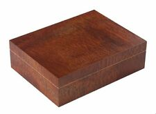 New Bubinga / Walnut Exotic Grain Pattern Finish ~ 50 Cigar Humidor