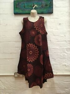 ladies Stonewashed Mandala Midi dress hippie/boho/festival free size