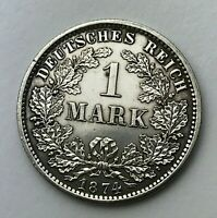 Dated : 1874 E - Silver Coin - Germany - 1 Mark - One Mark Coin - Wilhelm I