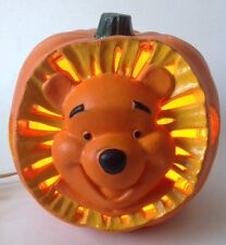 Lighted Winnie the Pooh Foam Pumpkin Jackolantern Disney 1999 Halloween Fall