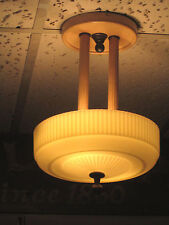 ART DECO HANGING ELECTRIC CEILING FIXTURE CHANDELIER