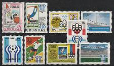 v3043 Uruguay/ Fussball-WM  MiNr 1368+1405+1406+1438+1439+1442+1443+1460+1464 **