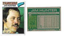 1977 Topps Catfish Hunter (New York Yankees) HOF #280 NM-MT High gloss no crease