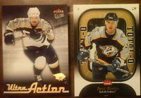 LOT OF 2 PAUL KARIYA INSERT CARDS Fleer 2006/07 Nashville Predators - COMB SHIP