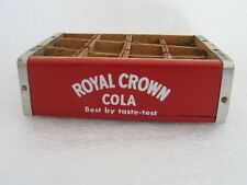 MINIATURE 4 INCH ROYAL CROWN COLA Wooden Crate with dividers for 12  Bottles