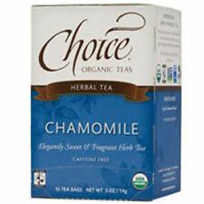 Chamomile Herb Tea 16 BAGS by Choice Organic Teas
