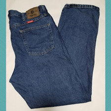 Wrangler Men's Medium Wash Regular Fit Straight Leg Jeans | 38 x 32 | 965T1DS