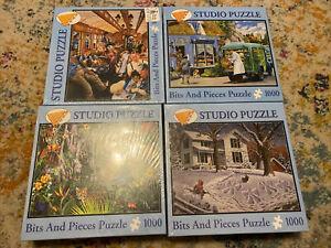 Bits & Pieces Studio Puzzles 1000 pieces Lot - New Sealed - Lot Of 4