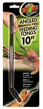 ZOO MED STAINLESS FEEDING ANGLED TONGS ALL ANIMAL REPTILE SNAKE FREE SHIP TO USA