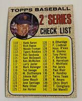 1968 Juan Marichal Checklist 2nd Series # 107 San Francisco Giants Topps HOF SF