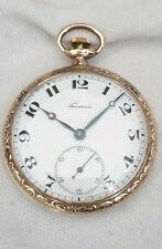 Pocket watch. 7J Swiss Gents Gold Plate (FULL WORKING ORDER)Tavannes Early 1900s