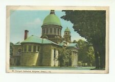 ST. GEORGES CATHEDRAL, KINGSTON, ONTARIO, CANADA VINTAGE POSTCARD