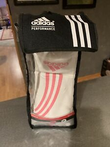 NEW ADIDAS PERFORMANCE BOX-FIT BAG GLOVES, LADIES S/M, CLIMACOOL, PINK/WHITE!!