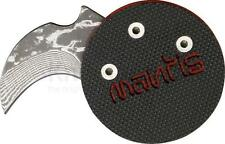 Mantis Civilianair knife Black DEMON coin poker chip Stainless Damascus MCK-1a
