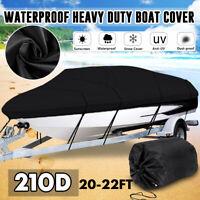 20-22ft 7m-2.9m Waterproof Trailerable Marine Grade Boat Cover Heavy-Duty 210D