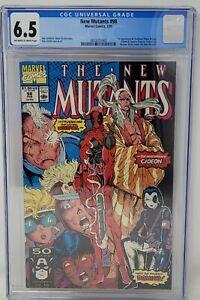 New Mutants #98 CGC 6.5 1st Appearance of Deadpool ! KEY