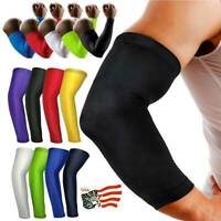 Sports Compression Arm Sleeve Elbow Support Stretch Basketball Football Brace C2