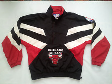 VINTAGE RARE STARTER AUTHENTIC CHICAGO BULLS WINDBREAKER PULLOVER JACKET SIZE L
