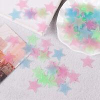 100Pcs 3D stars glow in dark luminous fluorescent plastic wall sticker h La TDO