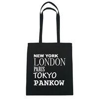 New York, London, Paris, Tokyo PANKOW  - Jutebeutel Tasche - Farbe: schwarz