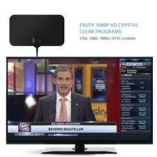 New Ultra-thin Digital HDTV Antenna Indoor Detachable Amplifier Signal Booster