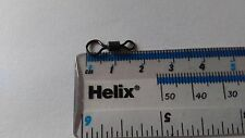 100 X BIG EYE HELICOPTER/ CHOD SWIVELS SIZE 8   - TEFLON MATT BLACK