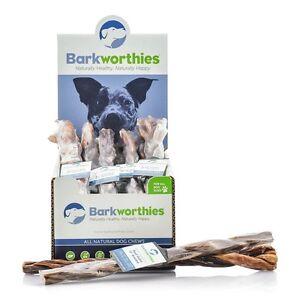 "Barkworthies Braided Beef Gullet Dog Treat 12""  Free Shipping"