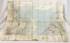 1940 WW2 Military Map of The North Sea Holland Netherlands England RAF Aviation