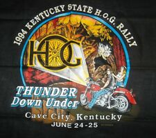 Vintage Kentucky State Hog Rally Thunder Down Under Biker Bandana Scarf 1994 New