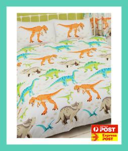 DINO DINOUSAURS T-REX dinosaur DOUBLE bed QUILT DOONA DUVET COVER SET new