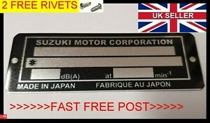 SUZUKI STAMPED FOR YOU SCOOTER BIKE FRAME ID VIN-CHASSIS-PLATES FREE RIVETS