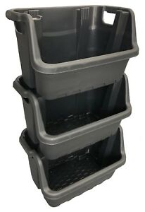 35 Ltr Stacking Picking Plastic Open Fronted Recycling Plastic Storage Box Bins
