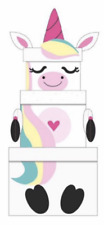 Eurowrap 3 Gift Boxes with Unicorn Pattern - Multicoloured