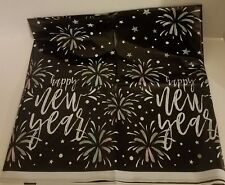 Happy New Year! Plastic Tablecover Tablecloth Decoration Eve Party Celebration