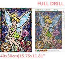 UK Full Drill Fairy Elf Butterfly Girl 5D Diamond Painting Cross Stitch Kit Gift