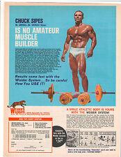 Bodybuilding Advertisement Joe Weider Wildcats Chuck Sipes Barbell Dumbell Sets