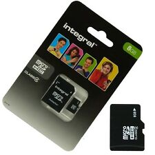 MICRO SD CARD for SONY ERICSSON Xperia RAY 8 Go SDHC + adapted integral SD