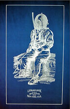 "Vintage Diving Helmet Diver Schraders & Son Blueprint Plan 14"" x 22"" (209)"