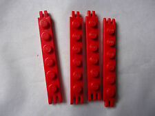 PART 4504 RED 1 x 6 HINGE PLATE WITH 2 AND 3 FINGERS ON ENDS x 4