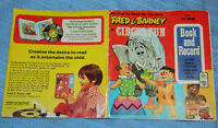 Classic Fred and Barney in Circus Fun Storybook~45 RPM ~Vinyl Record Book~ 1974