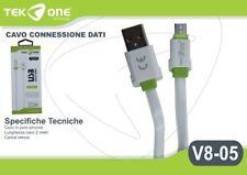 Cavo Dati Usb TeKone V8-05 Connettore Microusb Micro Usb 2MT Smartphone hsb