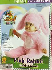 Pink Rabbit Costume Girls Infant 6-12 mos NWT 3 Pc Jumpsuit Headpiece Carrot