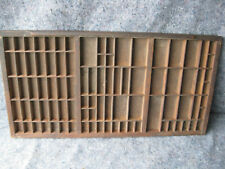 Antique Wooden Printer's Tray Ink Drawer Shadow Box Hanging Knick Knack Shelf