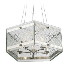 Savoy House Addison 7-6043-5-109 Five Light Crystal Pendant Polished Nickel
