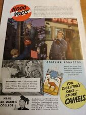 JULY 1937 MAGAZINE PAGE #A335- HIGH-VOLTAGE WIRE WORKERS SMOKE CAMELS