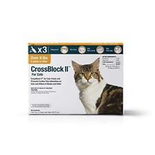 CrossBlock II Flea Preventative for Cats Over 9Lb. 3-Pack