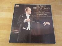 Brahms - The Symphonies 4 cassette  Box Set, Janowski Royal Liverpool Philh Orch