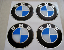 BMW 4 x 70mm NEW Emblems WHEEL CENTER CAP STICKERS , Badge.,